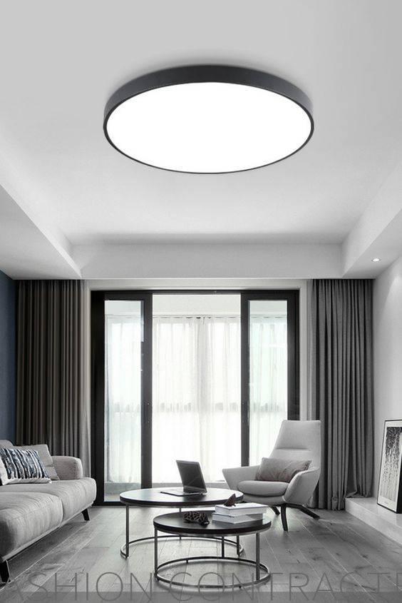 Circular Ceiling Light - Living Room Lighting Designs