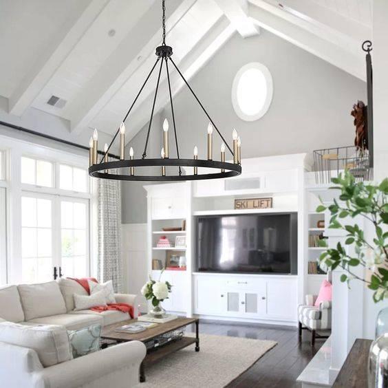 The Wagon Wheel Chandelier - Modern Living Room Lighting