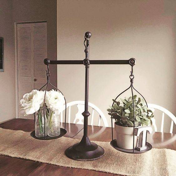 A Balance Scale - Simple Dining Table Centrepiece Ideas
