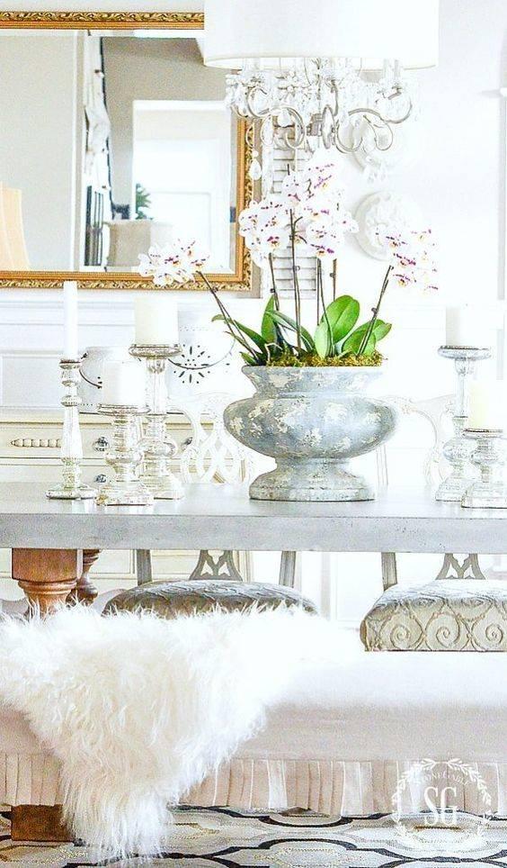 A Stone Urn Planter - Dining Room Table Decor Ideas