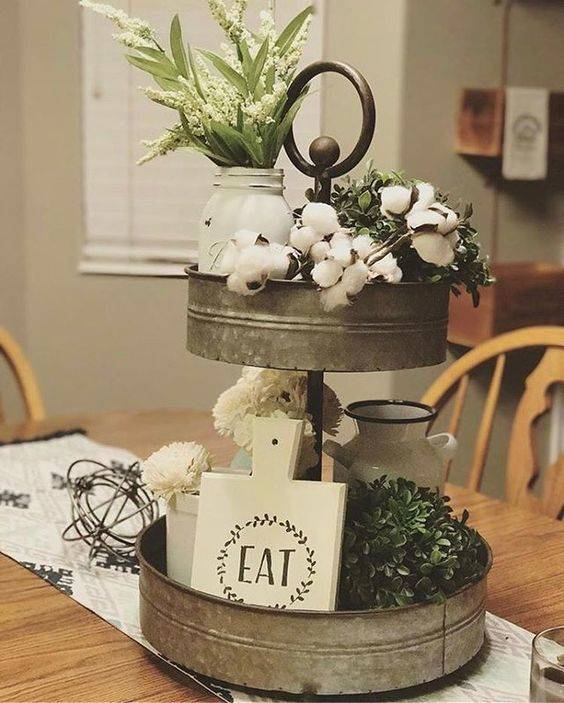 A Simplistic Style - Dining Room Centrepiece Ideas