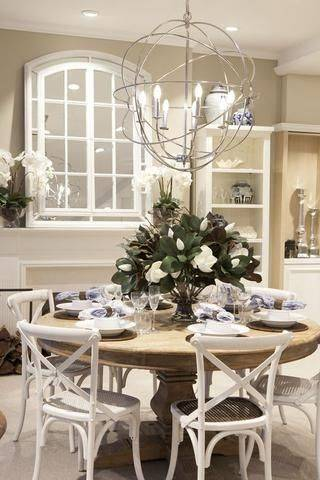 A Giant Bouquet - Simple Dining Table Centrepiece Ideas