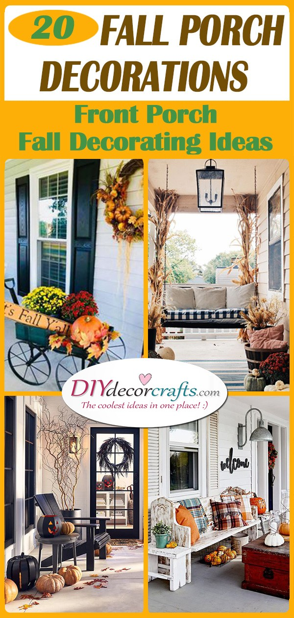 20 FALL PORCH DECORATIONS - Front Porch Fall Decorating Ideas