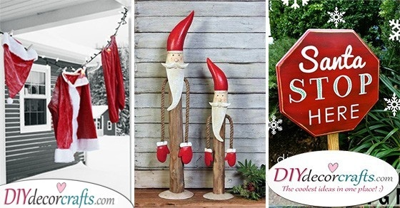 15 OUTDOOR SANTA DECORATIONS - Santa Claus Yard Decorations