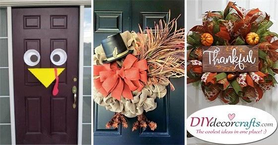 20 THANKSGIVING DOOR DECORATING IDEAS - Thanksgiving Wreaths for Front Door