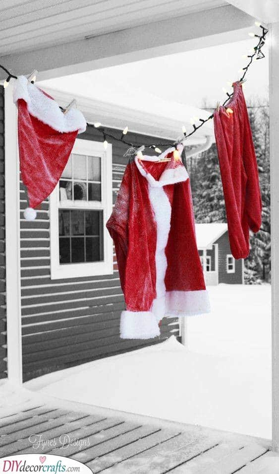 Hanging Out the Laundry - Drying the Costume