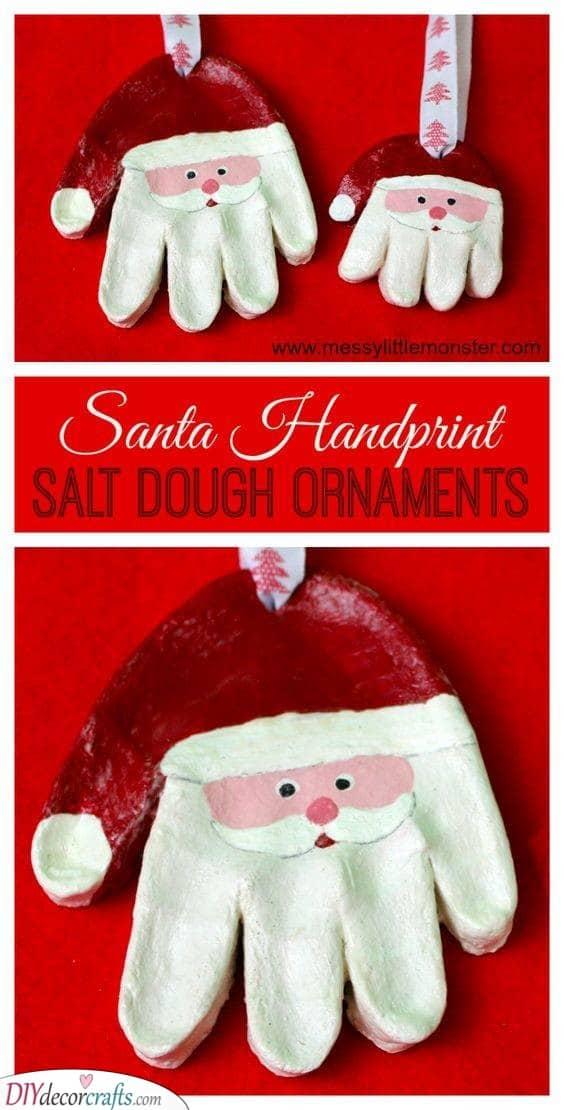 Salt Dough Ornaments - Made with Their Handprints