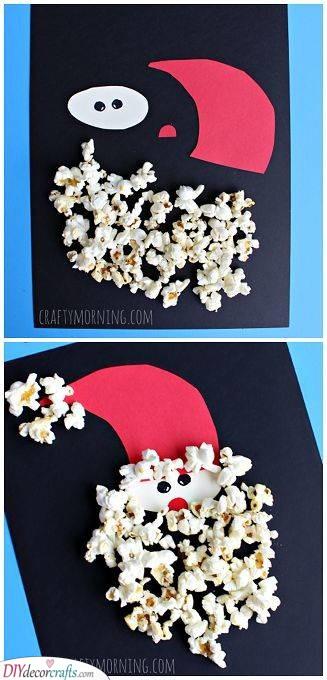 Fantastic with Popcorn - Santa Crafts for Kids