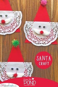 A Cake Lace Beard - Santa Crafts for Preschoolers