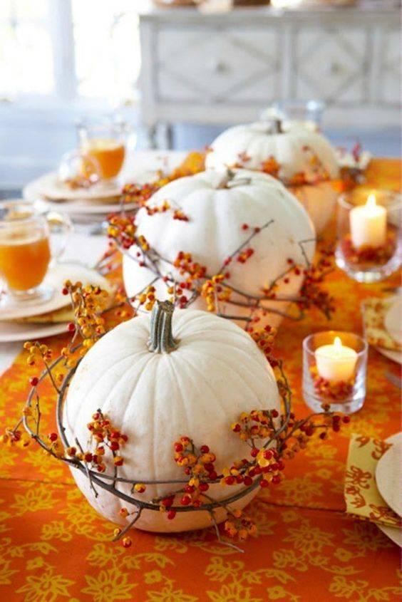 Wrap Your Pumpkins - Thanksgiving Centrepiece Ideas