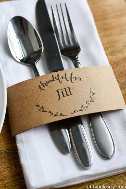 Simplistic Place Cards - For the Cutlery