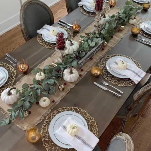 A Feeling of Farmhouse - Thanksgiving Tablescape