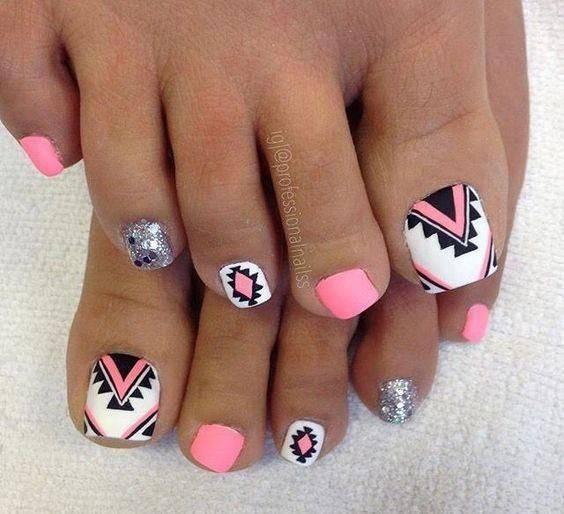 Summer Pedicure Ideas - Summer Toe Nail Designs