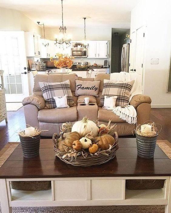 Fall Living Room Decor Ideas - Autumn Living Rooms
