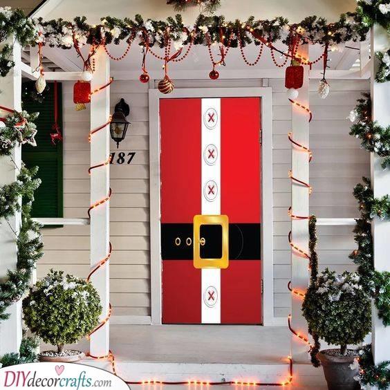The Whole Door - Santa Claus Door Decoration
