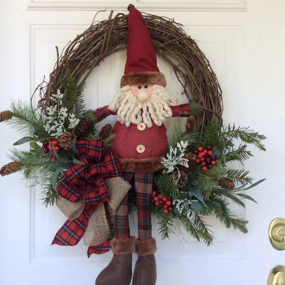 A Bit of Nature - Santa Claus Door Decorations