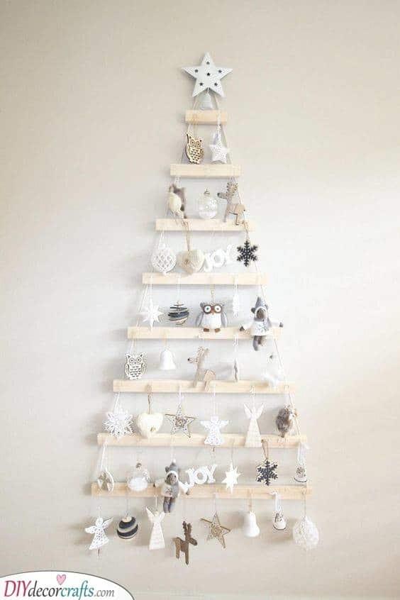 Adding Adorable Ornaments - DIY Wall Christmas Tree