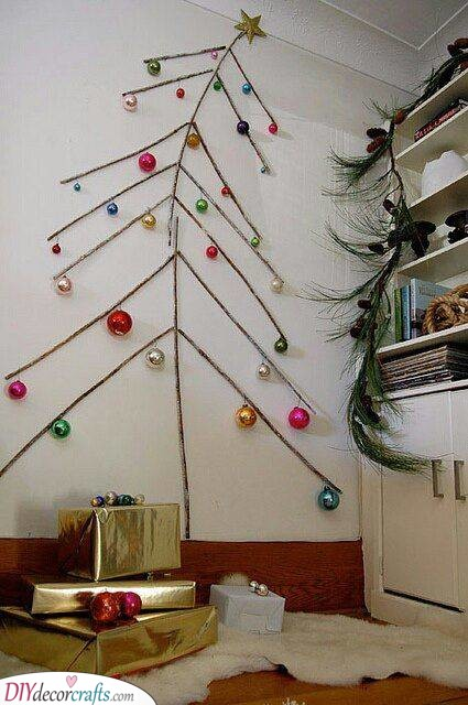 Keeping It Simple - Wall Christmas Tree Ideas