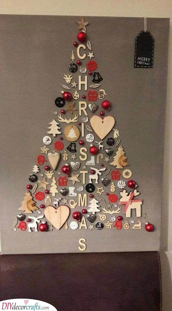 Spelling It Out - Christmas Wall Tree Ideas