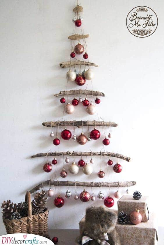 Stunning and Minimalist - Wall Christmas Tree Ideas