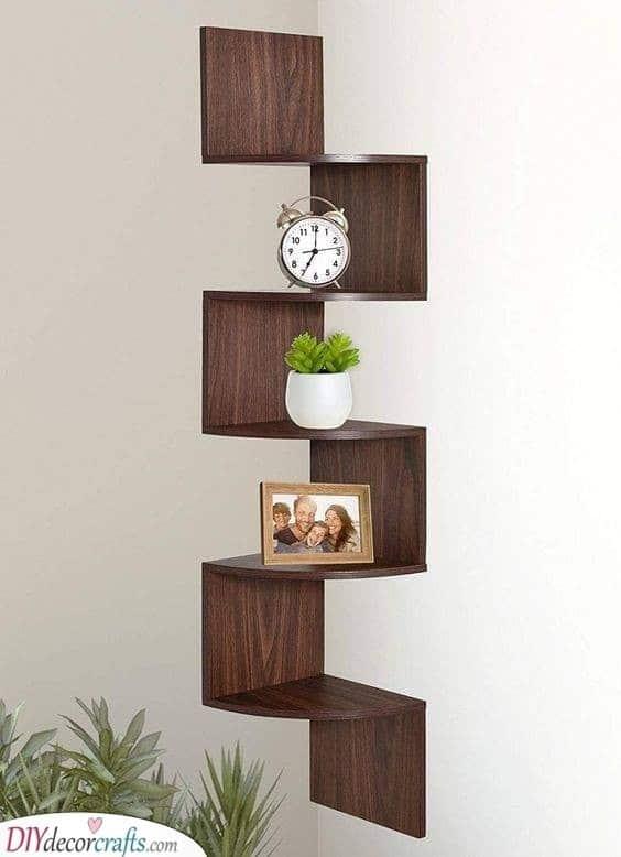 A Minimalistic Style - Floating Shelves Ideas