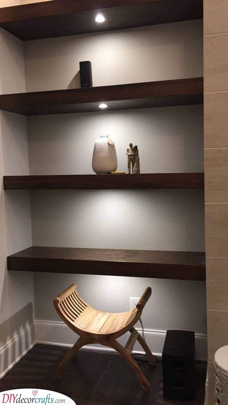 From Wall to Wall - Floating Shelves Designs