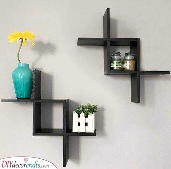 Cool Criss Crosses - Floating Shelves Design