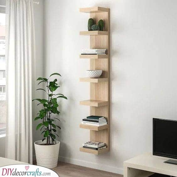 Long and Verticle - Floating Shelves Design