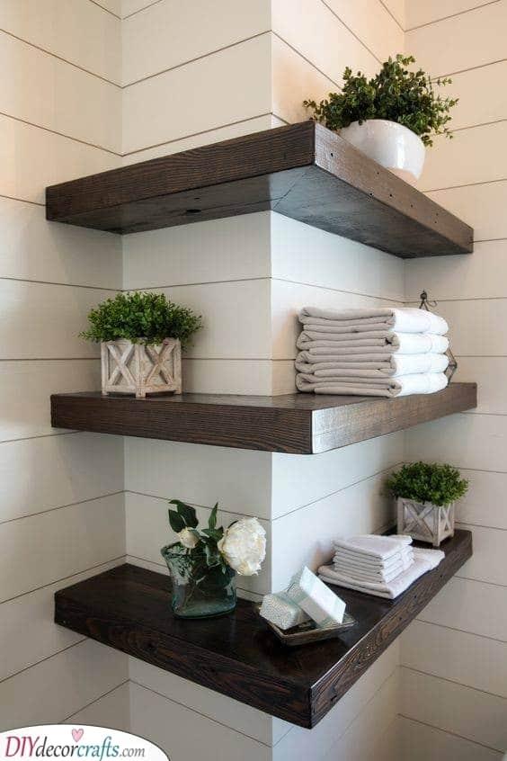 A Corner Shelf - Floating Shelf Designs