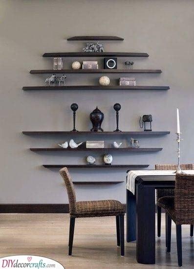 An Oval Shape - Floating Shelves Ideas