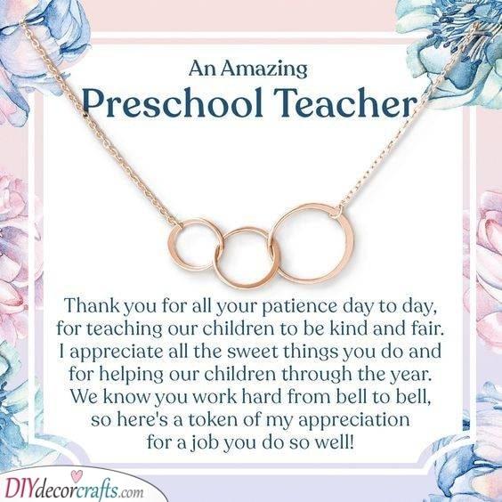 Gorgeous Jewellery - Best Gifts for Preschool Teachers