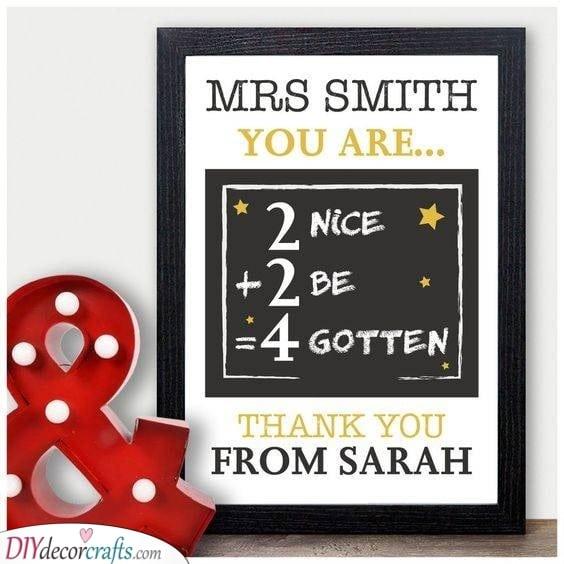 A Bit of Maths - Preschool Teacher Appreciation Gifts