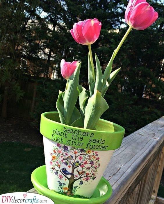 A Pot of Flowers - Nursery Teacher Gifts