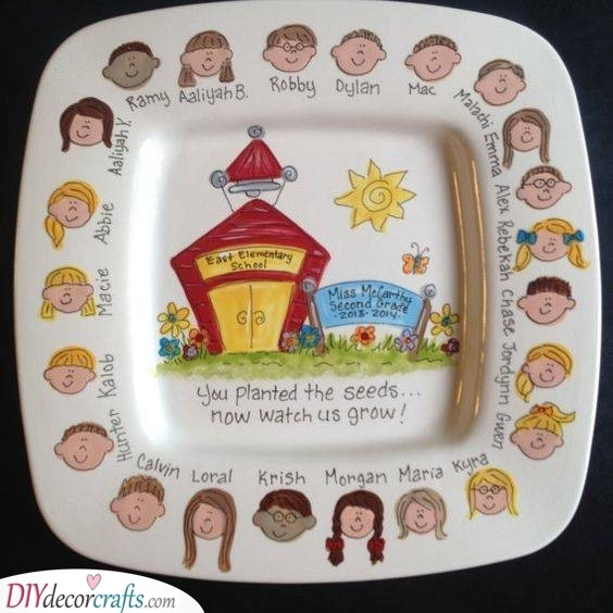 Hand Painted Plate - With All the Children