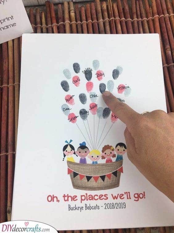 A Beautiful Card - Decorating with Fingerprints
