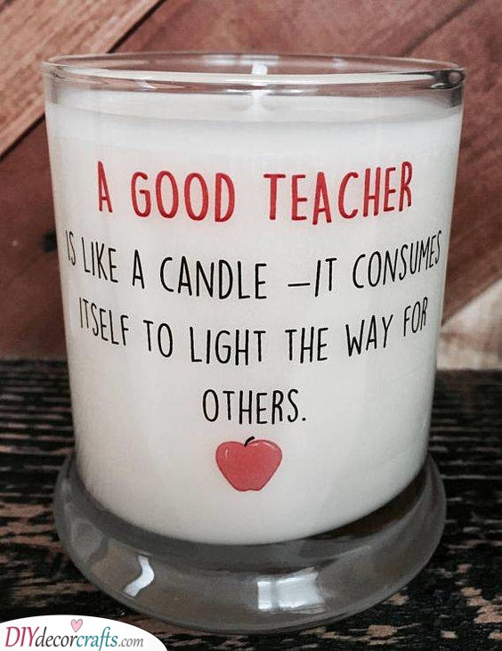 A Deep Meaning - A Personalised Candle