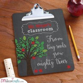A Clipboard - Gift Ideas for Teachers from Students