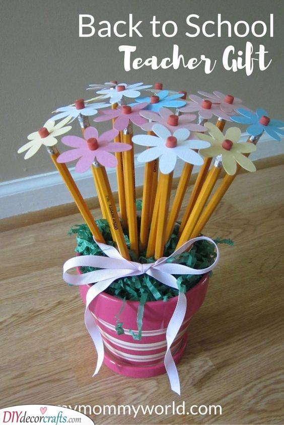 A Pot of Flowers - Gift Ideas for Teachers from Students