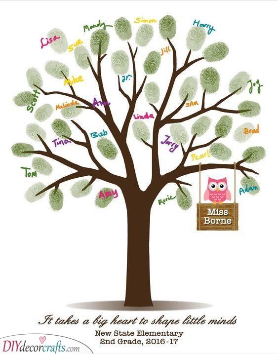 Fingerprint Tree - Teachers Appreciation Gift Ideas