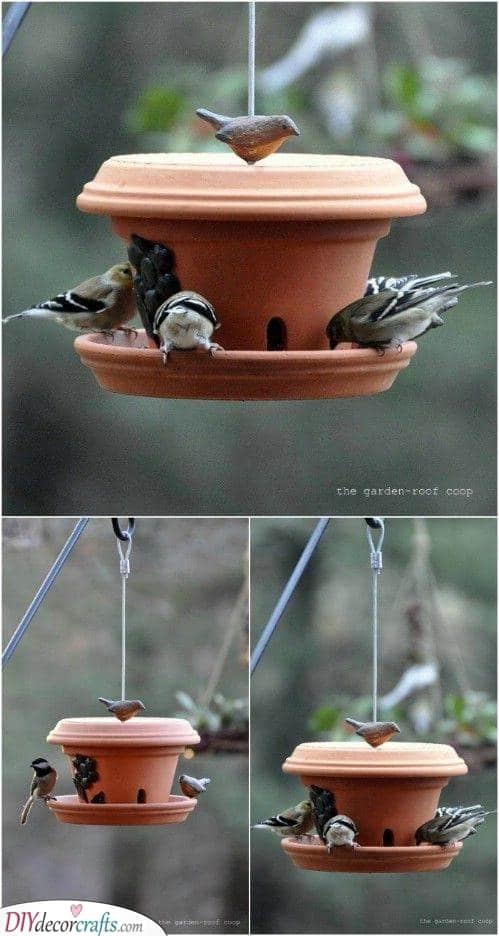 Terrific in Terra Cotta - Homemade Bird Feeder