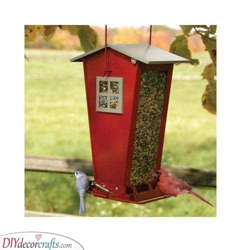 Keeping Away Unwanted Guests - Bird Feeding Station