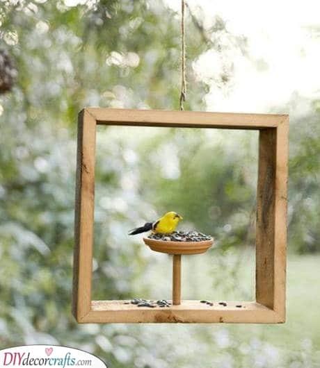 A Fabulous Frame - Squirrel Proof Bird Feeder Ideas