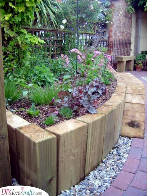Lining with Wood - Raised Vegetable Planters