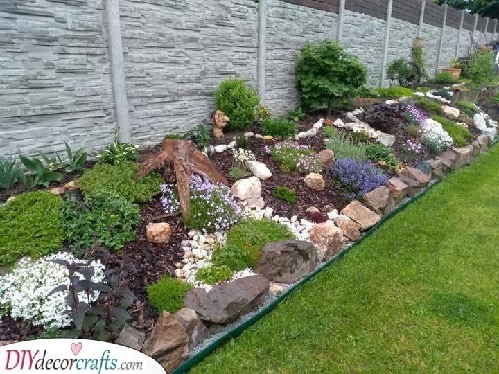 Creating a Border - Rock Garden Ideas