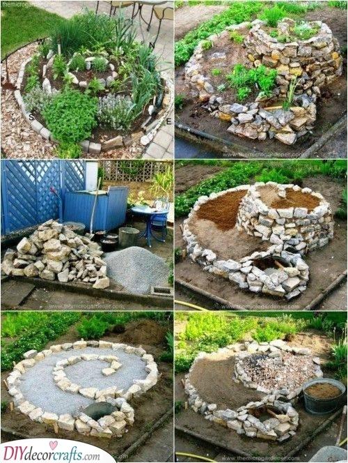 A Spectacular Spiral - Rockery Garden Design