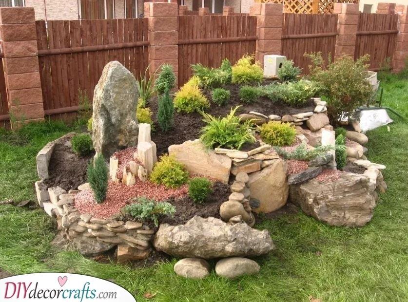 A Raised Rock Garden - Garden Rockery Ideas
