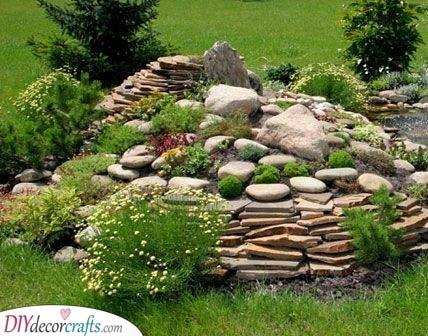 Pyramid Vibes - Fantastic Rockery Garden Designs