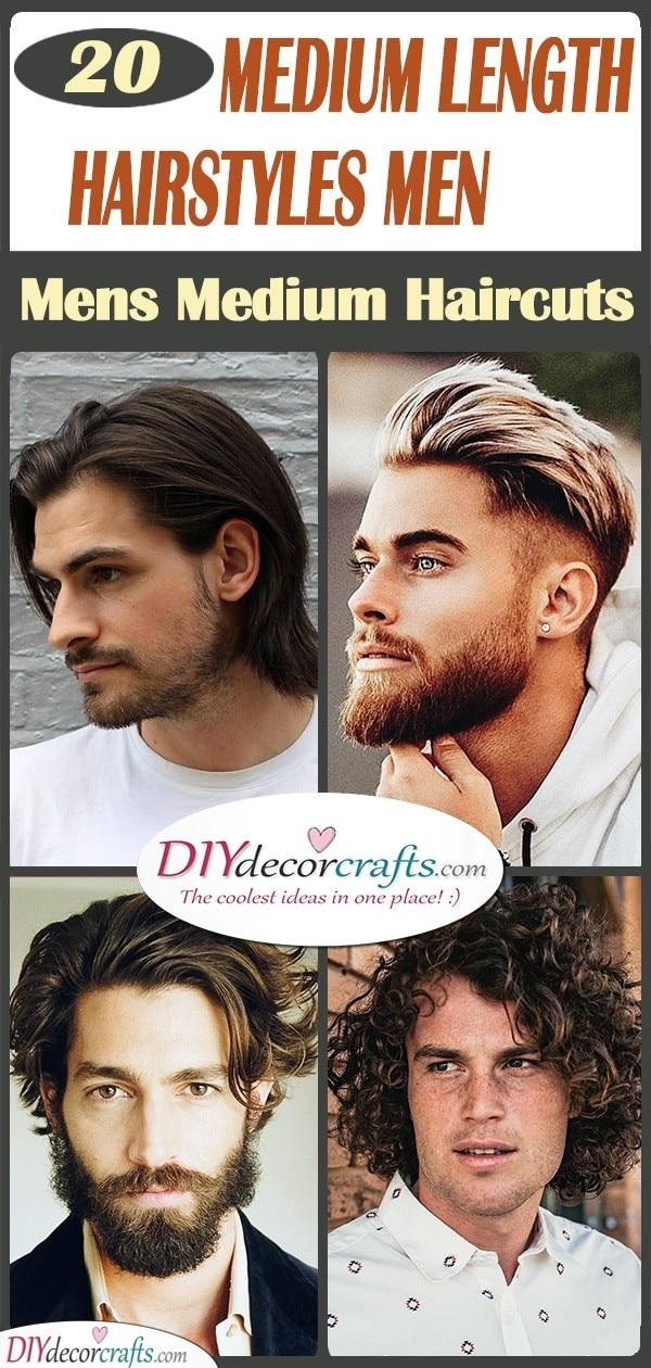 20 MEDIUM LENGTH HAIRSTYLES MEN - Mens Medium Haircuts