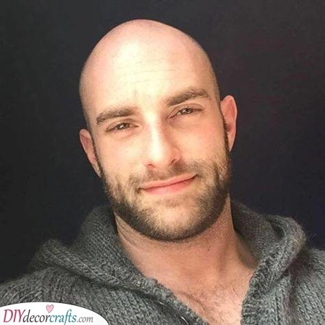 Bald with Stubble - Shaved Head with Beard Styles
