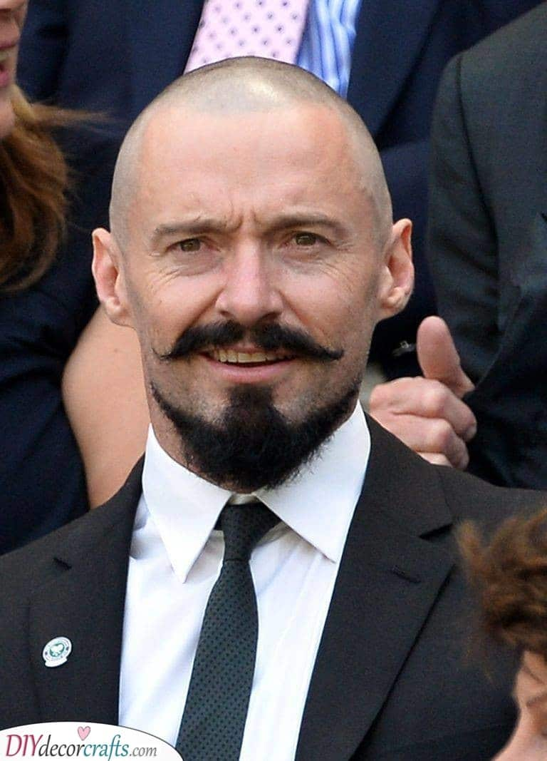 A Handlebar Moustache - With an Anchor
